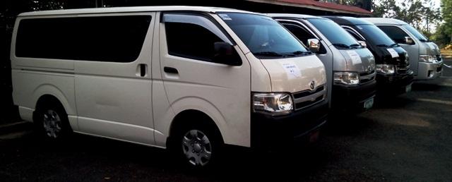 Van for hire in Manila Philippines